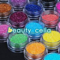 24 Color Nail Art Glitter Powder Dust UV Gel Acrylic Powder Decoration Tips Kit
