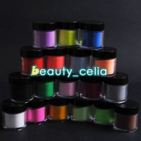 Jumbo Size 18 Color Acrylic Powder Nail Art UV Powder Glitter 3D Liquid Deco Kit