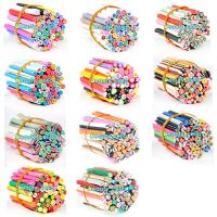 50 X 3D Nail Art Fimo Canes Sticker Rods Acrylic UV Decor Tips Kit DIY Beauty