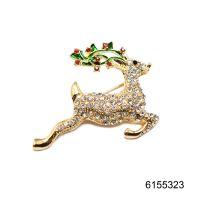Christmas deer brooches