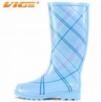 Fashion ladies rubber rain boots
