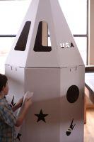 Cardboard Rocket Playhouse Cardboard Cubby House