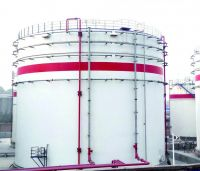 Vertical large oil storage tank for petrol, diesel and crude oil