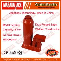 3 Ton Welded Construction Hydraulic Bottle Jack, Car Jack, Lifting Tools, MSK-3
