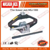 1Ton Hydraulic Scissor Jack with Handle for Passenger Car MSJ-1000