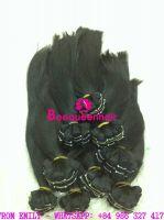 Machine weft black hair