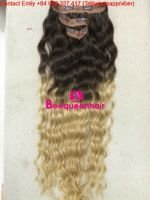CLIP IN HUMAN HAIR EXTENSION 24 INCHES