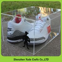 High transparent acrylic shoe box bespoke, clear shoe box display case, custom sneaker box