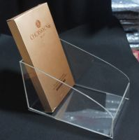 Clear customized acrylic brodhure display stand