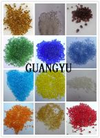 red/yellow/green/blue/orange color glass bead for decoration