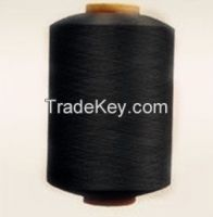 black F/R polyester filament fiber