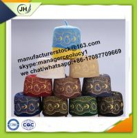 wool felt embroidery muslim cap oman cap prayer hat