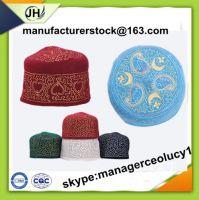 100% wool felt muslim men headwear