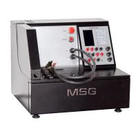 Test Bench MSG MS004 COM for diagnostics of 12V, 24V alternators through load simulation of current consumers up to 100A or 50A, correspondingly; testing of voltage regulators and starters in mode of idle running