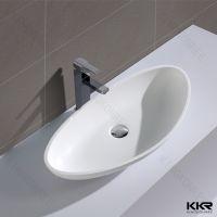 polymarble resin basin Acrylic solid surface bathroom basin