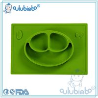Happy Mat Baby bowls kids tableware - One-piece silicone placemat + plate, Food Dish Silicone Dining Plate