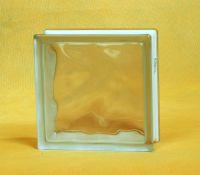 Cloudy pattern glass block