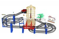 electric race track set railway toy