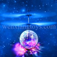 infrared induction rc flying ball toy with light and music