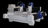 Two Heads Stone CNC Engraving Machine