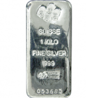 Silver Bars / 1 kg PAMP Suisse Silver Cast Bar