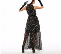 2016 Fashion Women's polka dots Maxi dress long Casual Summer Beach Chiffon Party Dresses style cheap vestidos de festa