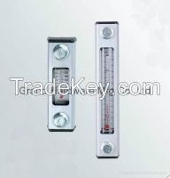 Hydraulic oil level indicator with thermometer, hydraulic oil level gauge with thermometer