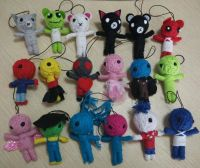 Wholesale Cotton String Handmade Voodoo Doll Keychain Promotional Key Chain Voodoo Doll Cheap