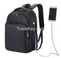 USB charging backpack  nylon  computer backpack 16 inch 20