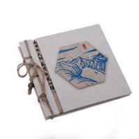 Grass Cloth Notebooks With Print