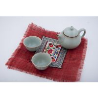 Cup Mat With Embroidery