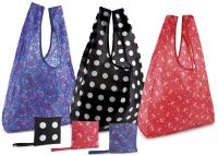 Eco Friendly Ladies Foldable Cheap Printed Polyester Shopping Bag