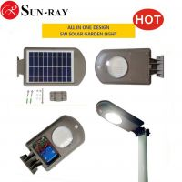 IP65 Motion Sensor Wholesale China 5W Solar LED Street Lights Outdoor Parking Lot Lighting with 2 years