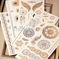 New Design Gold Tattoo Fashion Temporary Tattoo Stickers Temporary Bod