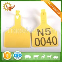 2016 China Supplier Farm Equipment Animal Plastic Cow Ear Tag