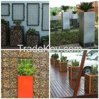 Direct factory low price Rock Basket Wire Mesh Gabions/gabion basket f