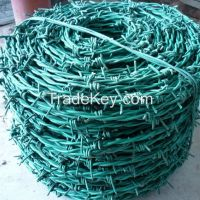 Galvanized Steel Barbed Wire, security barb wire, double/single strand