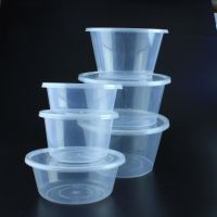Round Disposable Plastic Take Away Fast Food Container Box with Lid