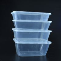 500ml Rectangular Disposable PP packing Box