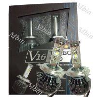 V16 turbo style 40W 4000lm H4 C- LED Car Driving lamp Source xenon white Headlight Fog Bulb 6000K automoible refit