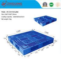 Grid Double Sides Heavy Deck Rackable Plastic Pallet (ZG-1210)