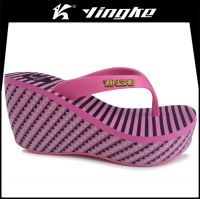High quality summer lady beach wedge sandals flip flops women slippers eva