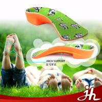 2017 super comfort high elastic light weight shock absortion bowlegs correction EVA arch support orthotic insoles for kids