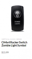 CH4x4 Rocker Switch Zombie Light Symbol