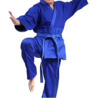 Youyun China supplier wholesale and custom white and blue judo uniform