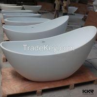 freestanding hot tub solid surface egg shaped bathtub bathroom