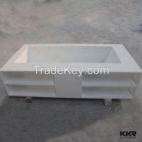 Kingkonree free standing bath up shower soaking tub