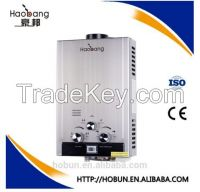 Stainless steel gas water heater 6L LED displayer