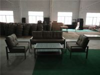 Hotel Commercial Polywood Outdoor Furniture Plastic Wood Sofa Set