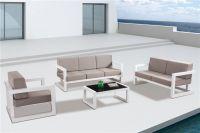 American Hotel Contract Garden Furniture Luxury Aluminium Sofa Set with Cushion